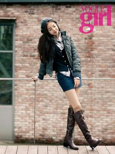 Cute! | Wonder Girls' Sohee poses in Tommy Hilfiger for Vogue Girl