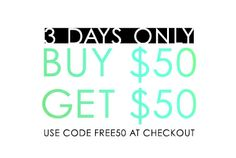 Craving some retail therapy? We're here to support that endeavor. Now when you spend $50, we'll send you another $50