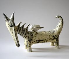 I n n a O l s h a n s k y - ceramic sculptures Ceramic Monsters, Ceramic Animals, Clay Animals, Sculpture Projects, Ceramics Projects, Clay Projects, Sculpture Ideas, Pottery Sculpture, Bronze Sculpture
