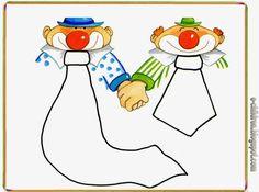 Clown Crafts, Carnival Crafts, Winter Activities, Math Activities, Clowning Around, Circus Clown, Kindergarten Math, Mardi Gras, Embroidery Designs