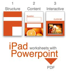 PDFs iPad worksheets with Powerpoint