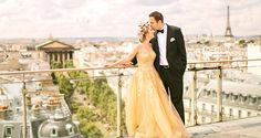 Risultati immagini per wedding in paris yellow dress