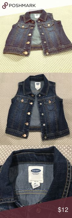 Old Navy Girls Jean Vest Perfect to pair with an Autumn outfit as an accessory. Old Navy Jackets & Coats Vests