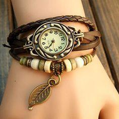 Leaf Vintage Wrap Watch