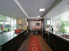 Awesome kitchen in the beach house of someone who probably doesn't cook.