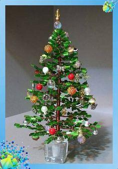 beads christmas tree - tutorial