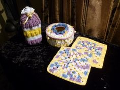 4 piece kitchen set includes gadget can, dish soap bottle cover and two hot pads. All crocheted in 100% cotton sugar and cream yarn. Machine washable but please air dry. ready to go right now. Half price shipping and free gift for first time customers. See other pictures for this item on yardsellr under Leona P Slagle. Price listed includes postage. 18.75 Sugar And Cream Yarn, Crochet Kitchen, Bottle Cover, Kitchen Sets, Half Price, Hot Pads, Gadget, Free Gifts, Red And White