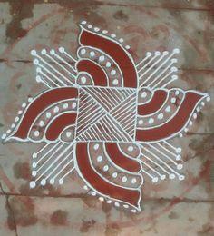 Easy Rangoli Designs Diwali, Rangoli Simple, Indian Rangoli Designs, Simple Rangoli Designs Images, Small Rangoli Design, Rangoli Ideas, Kolam Rangoli, Flower Rangoli, Beautiful Rangoli Designs