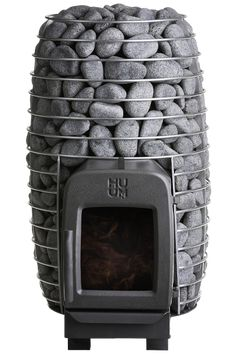HIVE HEAT is a highly efficient wood-burning sauna stove for smaller saunas. The sauna stove is treated only with natural oils without the use of chemicals. Sauna Wood Stove, Wood Stove Chimney, Wood Stove Heater, Stove Fireplace, Diy Heater, Sauna Heater, Building A Sauna, A Frame House Plans, Sauna Design
