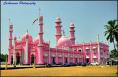Beemapally Masjid, Pink Mosque by A. Mosque Architecture, Religious Architecture, Beautiful Architecture, Beautiful Buildings, Art And Architecture, Beautiful Mosques, Beautiful Places, Temples, Pink Mosque