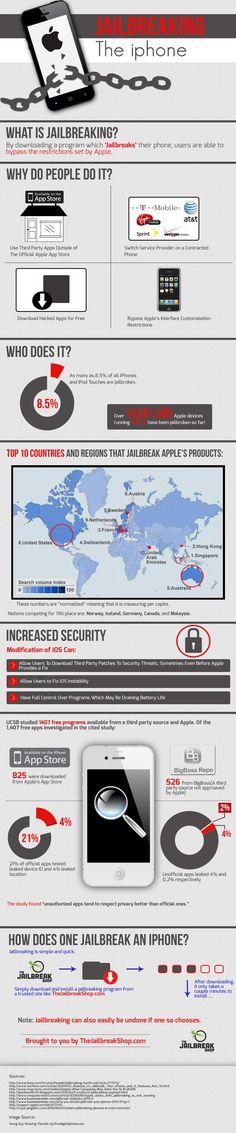 http://thejailbreakshop.com/jailbreak-ios-7/  Jailbreaking the Iphone [Infographic]