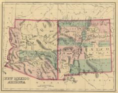 99 best Arizona Maps images on Pinterest | Blue prints, Cards and Map