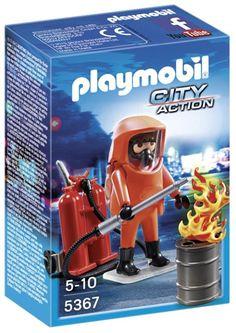 Playmobil - A1502694 - Jeu De Construction - Pompier + Combinaison De Feu