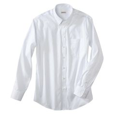 Merona® Men's Long Sleeve Button Down Shirt - White Button Down Dress, Button Down Shirt, Work Shirts, Dapper, Button Downs, Work Wear, Chef Jackets, Shirt Dress, Long Sleeve