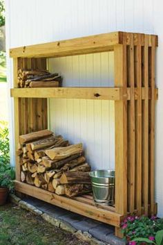 36 The Best Firewood Storage Design Ideas - It's hard to deny the comfort you get from a wood burning fire but storing a winter supply of firewood takes up a lot of space. A firewood storage rac.