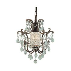 Feiss Maison De Ville British Bronze One-Light Fluorescent Mini... ($239) ❤ liked on Polyvore featuring home, lighting, ceiling lights, fluorescent ceiling lights, feiss chandelier, bronze ceiling lights, hanging chain lamp and miniature chandelier