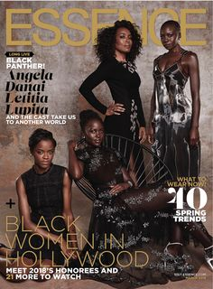 Lupita Nyong'o, Danai Gurira, Letitia Wright and Angela Bassett for Essence Magazine Happy Black History Month! Black Panther Marvel, Black Panther 2018, V Magazine, Magazine Covers, Black Magazine, Black Girls Rock, Black Girl Magic, Marvel Dc, Marvel News
