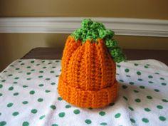 pumpkin beanie available in newborn sizes & up