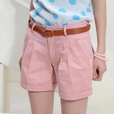 Women s Summer Fashion Slim-Cut Short Pants 4ee2e19d3f