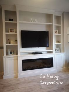 Bespoke TV unit with electric fire Living Room Units, Electric Fires, Tv Unit, Bespoke, Cabinets, House, Furniture, Home Decor, Ideas