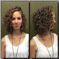 stacked spiral perm on short hair Short Permed Hair, Curly Hair Cuts, Curly Bob Hairstyles, Curly Hair Styles, Natural Hair Styles, Haircuts, Pixie Grow Out, Short Hair Images, Textured Hair