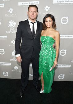 Channing Tatum and Jenna Dewan, who wore Monique Lhuillier, at the fourth annual Baby2Baby Gala.