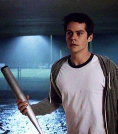 Stiles with his bat