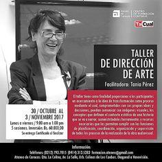 Del 30 de octubre al 3 de Noviembre, Tania Pérez dictará el TALLER DE DIRECCIÓN DE ARTE en el Ateneo de Caracas