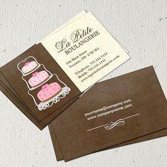 Customizable Cake Bakery Business Cards