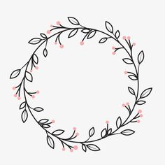 Wreath, Cartoon Creative, Wedding Decoration Material PNG Transparent Clipart Im. - Wreath, Cartoon Creative, Wedding Decoration Material PNG Transparent Clipart Image and PSD File fo - Embroidery Patterns Free, Diy Embroidery, Embroidery Stitches, Embroidery Designs, Bullet Journal Ideas Pages, Bullet Journal Inspiration, Cursive Alphabet, Wreath Drawing, Floral Drawing