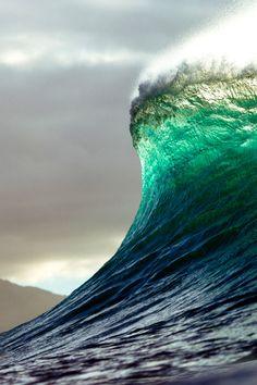 Ocean Wave Art Photo..amazing shot of wave cresting with sun shining through