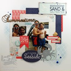 Summertime Boys. Seaside Collection from Authentique