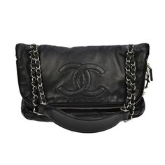 Chanel Black Lambskin Zip Around Flap Shoulder Bag Authentic Classic Quilted | eBay