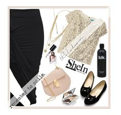 """Sequin & Black"" by violet-peach ❤ liked on Polyvore featuring moda, Vince Camuto, BCBGeneration, Alice + Olivia, Chloé, Chantecaille e Bobbi Brown Cosmetics"
