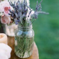 lavender jam jars