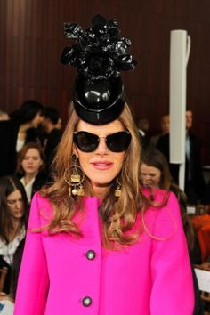 #Anna Dello Russo editor at Large Vogue Japan. She is a trailblazer in the world of fashion since the lose of Isabel Blow we've needed someone to set the barometric pressure of fashion she is the ONE. Always dressed to the nines, hats & all. I am devoted to her