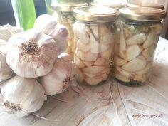 Czosnek kiszony - sprawdź jak łatwo zrobić ten cudowny eliksir zdrowia !   Wiki Rose >>blog European Dishes, Cooking Recipes, Healthy Recipes, Polish Recipes, Preserves, Mason Jars, Garlic, Food And Drink, Yummy Food