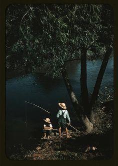 Boys fishing in a bayou, Schriever, La. June 1940. Marion Post Wolcott.