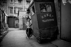 Beijing B&W IV by trbrg  Boys playing in the neighborhood