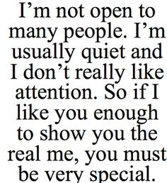 Daily Quotes: I'm Not Open To Many People ~ Mactoons Inspirational ...