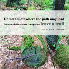 """Do not follow where the path may lead..."""