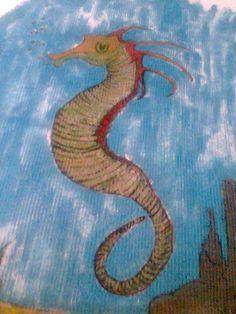 Pintura em tecido canelado - top