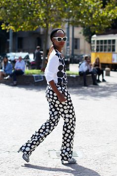 #MichelleElie rocking CdG (as she does). Milan.