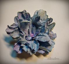 Purple crumpled flower - tutorial
