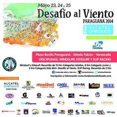 Desafío al Viento Paraguana 2014 * Playa Bonita, estado Falcón del 23 al 25 de mayo a  beneficio @fundaatodavela pic.twitter.com/gmoT7n3bJa