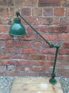 VINTAGE DUGDILL INDUSTRIAL MACHINISTS LAMP, WORKBENCH LAMP ANGLEPOISE WALL MOUNT in Antiques, Antique Furniture, Lamps | eBay Desk Lamp, Table Lamp, Vintage Industrial Lighting, Anglepoise, Antique Furniture, Wall Mount, Lamps, Room Ideas, Garage