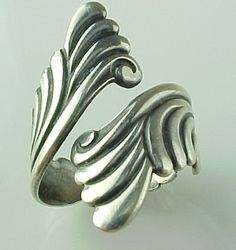 Vintage Sterling Silver, Bypass Wrap Ring