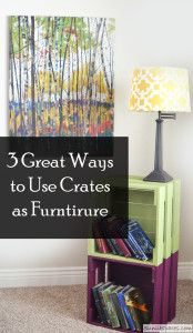 3 Great Ways to Use Crates as Furniture...kids' room or dorm room?