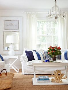 Opt for simple slipcovers to revitalize worn-out furniture or coordinate mismatched pieces.