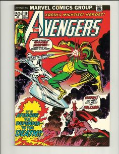 Avengers No. 116 - Marvel Comic Book Oct 1973